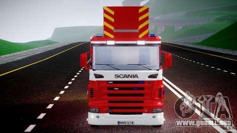 Scania R580 Fire ladder PK106 [ELS] para GTA 4 vista superior