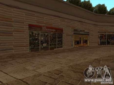 Nuevo centro comercial de texturas para GTA San Andreas quinta pantalla