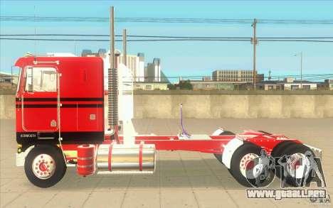 Kenworth K100 Extended Wheel Base para GTA San Andreas left