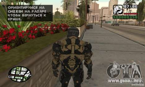 Crysis skin para GTA San Andreas tercera pantalla