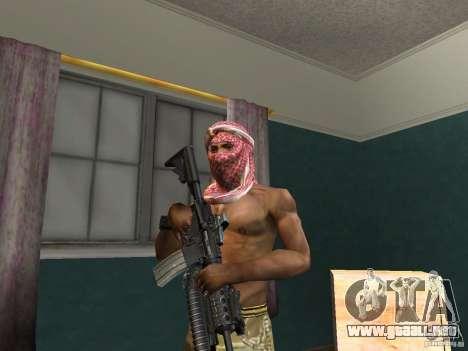 Sombreros de Call of Duty 4: Modern Warfare para GTA San Andreas quinta pantalla