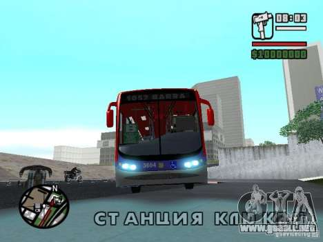 Busscar Urbanuss Pluss VW 17-230 EOD Alongado para GTA San Andreas left