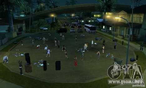 Proyecto x en Grove Street para GTA San Andreas quinta pantalla
