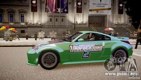 Nissan 350Z Underground 2 Style para GTA 4 left