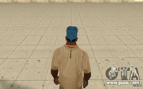 Pañuelo azul maryshuana para GTA San Andreas tercera pantalla