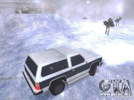 Snow MOD HQ V2.0 para GTA San Andreas novena de pantalla
