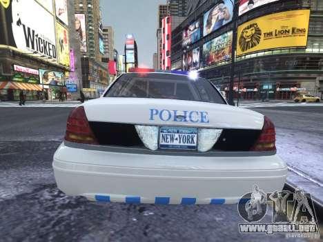 Ford Crown Victoria Homeland Security para GTA 4 visión correcta