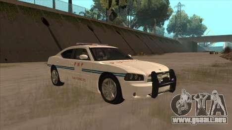 Dodge Charger PNP SAN FIERRO para GTA San Andreas vista hacia atrás