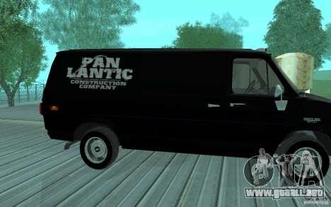 Chevrolet Van G20 1986 v2.0 para GTA San Andreas left