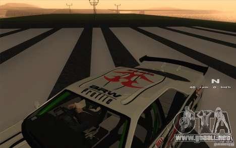 Nissan Skyline ER34 D1GP Blitz para la visión correcta GTA San Andreas