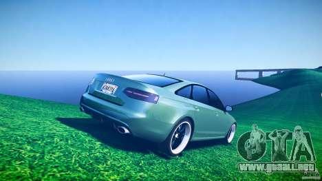 Audi RS6 2009 para GTA 4 vista desde abajo