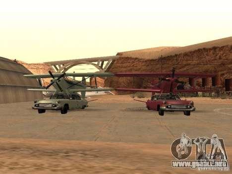 Auto-avión para GTA San Andreas vista hacia atrás