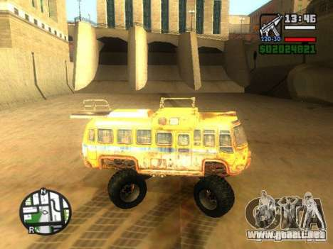 Bullet Storm Bus para GTA San Andreas left