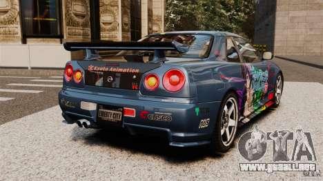 Nissan Skyline GT-R NISMO S-tune para GTA 4 Vista posterior izquierda