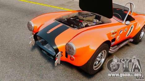 AC Cobra 427 para GTA 4 vista hacia atrás