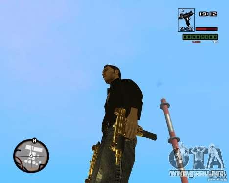 Micro Uzi Gold para GTA San Andreas tercera pantalla