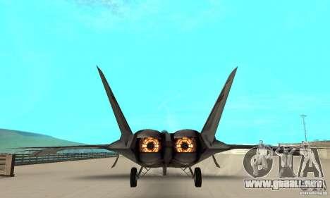 F-22 Starscream para visión interna GTA San Andreas