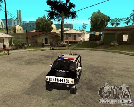AMG H2 HUMMER SUV SAPD Police para visión interna GTA San Andreas