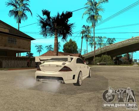 MERCEDES CLS 63 AMG TUNING para GTA San Andreas vista posterior izquierda