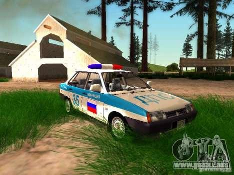 VAZ 2109 policía para GTA San Andreas interior