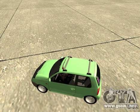 Volkswagen Lupo Hellaflush para GTA San Andreas vista hacia atrás