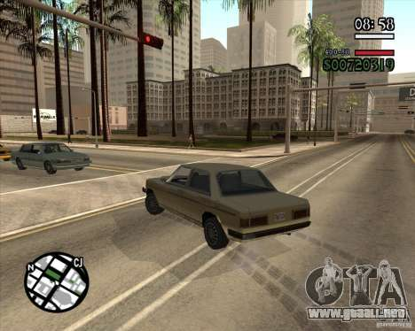 Nueva dirección pragmática para GTA San Andreas segunda pantalla