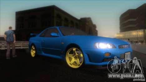 Nissan Skyline GTR-34 para visión interna GTA San Andreas
