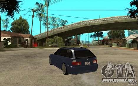 BMW M5 E39 530tdi Touring para GTA San Andreas vista posterior izquierda