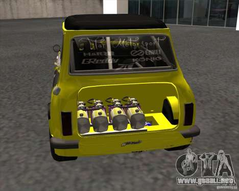 Mini Cooper S Titan Motorsports para GTA San Andreas vista posterior izquierda
