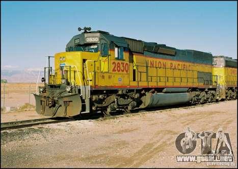 Locomotora SD 40 Union Pacific para la visión correcta GTA San Andreas