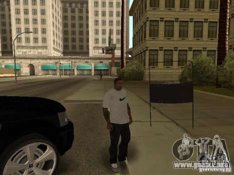 Escudo de armadura de Call of Duty Modern Warfar para GTA San Andreas sucesivamente de pantalla