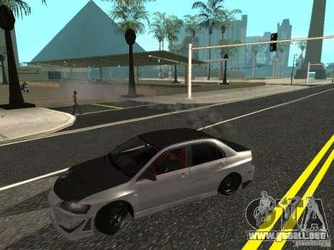 Mitsubishi Lancer Evolution VIII para GTA San Andreas vista posterior izquierda