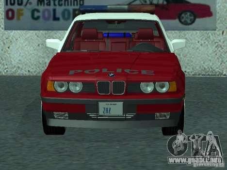 BMW 535i E34 Police para GTA San Andreas left