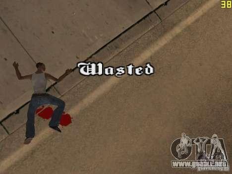 Regeneración de los brazos en asesinato para GTA San Andreas segunda pantalla