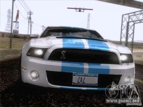 Ford Shelby Mustang GT500 2010 para GTA San Andreas interior