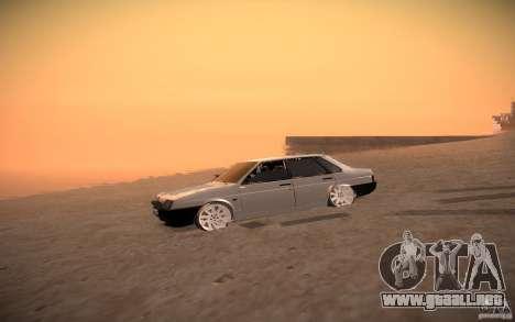 VAZ 21099 estilo Tuning para GTA San Andreas vista hacia atrás