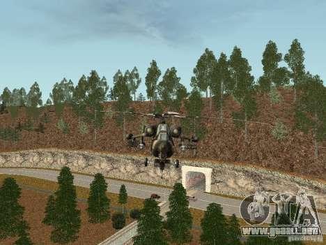 MI 28 HAVOC para GTA San Andreas vista posterior izquierda