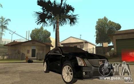 Cadillac CTS V Coupe 2011 para GTA San Andreas vista hacia atrás