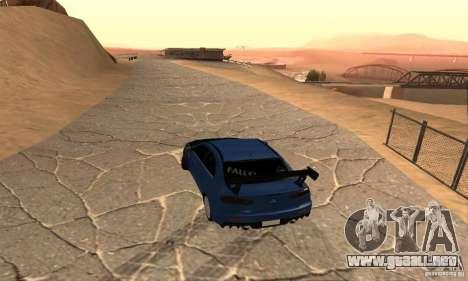 New Drift Zone para GTA San Andreas sucesivamente de pantalla