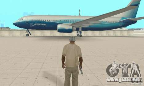 Boeing 737-800 para GTA San Andreas vista posterior izquierda