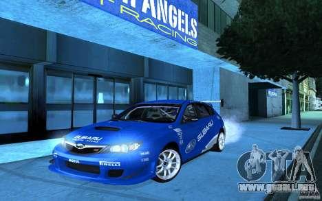 Subaru Impreza WRX STI 2008 Tunable para GTA San Andreas