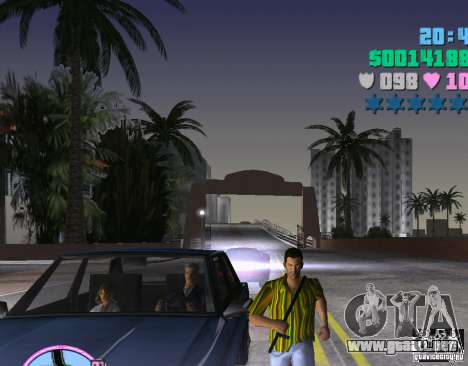 Rayas camisa hawaiana. para GTA Vice City segunda pantalla