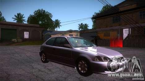 Honda Civic Tuneable para GTA San Andreas vista hacia atrás