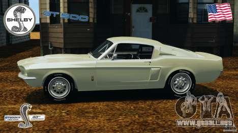 Shelby GT 500 para GTA 4 left