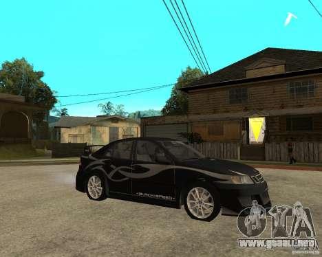 Saab 9-3 de GM Rally versión 1 para GTA San Andreas