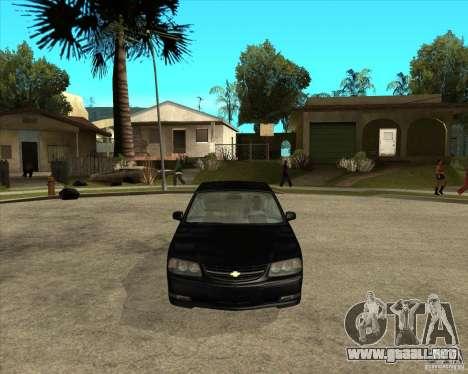 2003 Chevrolet Impala SS para GTA San Andreas vista hacia atrás