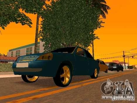 LADA Priora oro 2170 Edition para GTA San Andreas interior