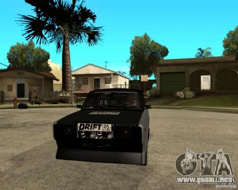 ВАЗ 2107 deriva para GTA San Andreas vista hacia atrás