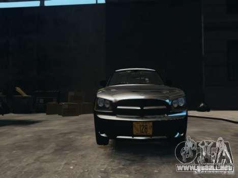 Dodge Charger Slicktop 2010 para GTA 4 vista hacia atrás