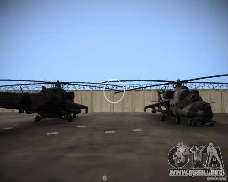 Mi-35 para GTA Vice City vista lateral